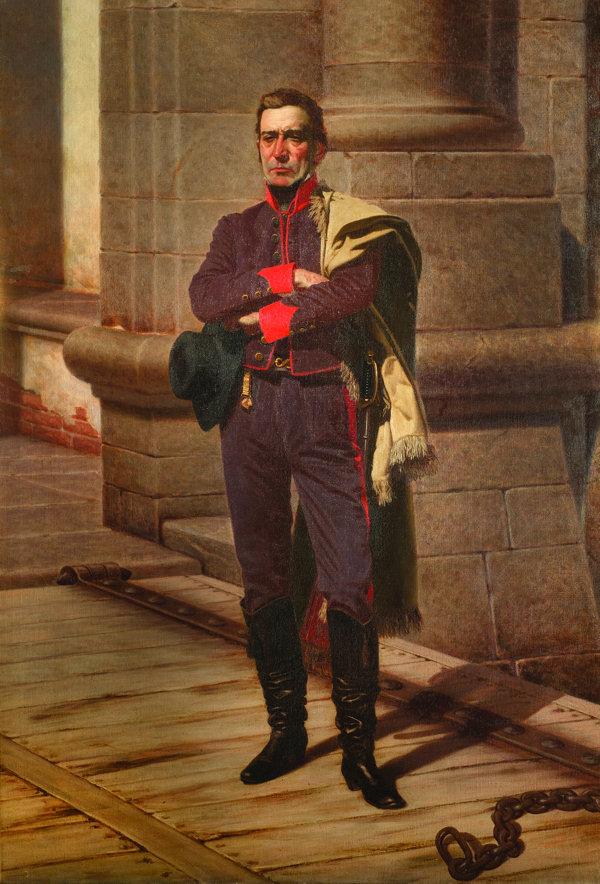 José Artigas em pintura de Juan Manuel Blanes