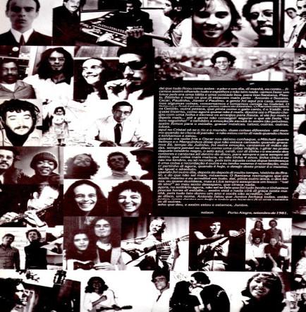 """Figura 2: encarte do LP """"Juntos"""" (foto: Letícia Brum)"""